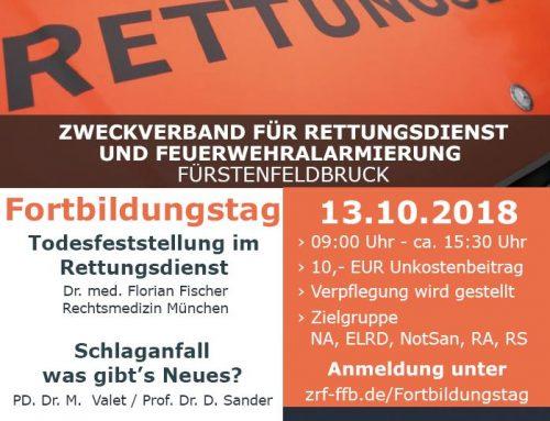 Traumateam Dachau unterstützt das Rettungsdienst-Symposium 2018!